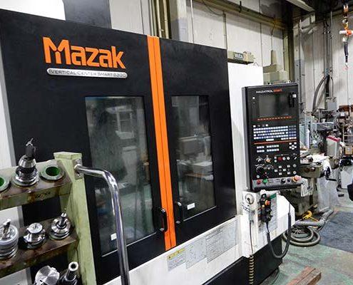 大阪府大東市の金属金型部品製作の日本プレス金型は金型設計や少量多品種の加工の日本プレス金型の保有設備情報のマシニングセンターのマザックのスマート530C